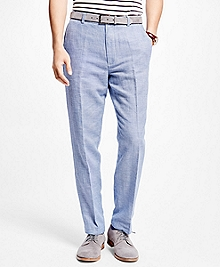 Clark Fit Linen and Cotton Glen Plaid Pants