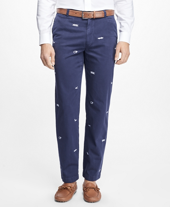Clark Fit Embroidered Nautical Knot Pants
