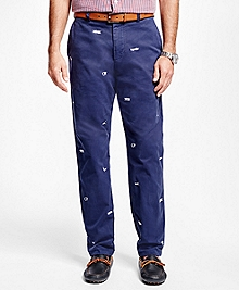 Milano Fit Embroidered Nautical Knot Pants