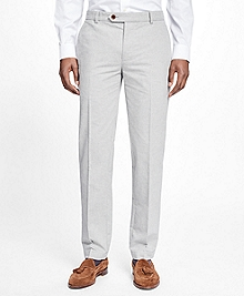 Milano Fit Heathered Flat-Front Pants