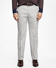 Clark Fit Heathered Flat-Front Pants