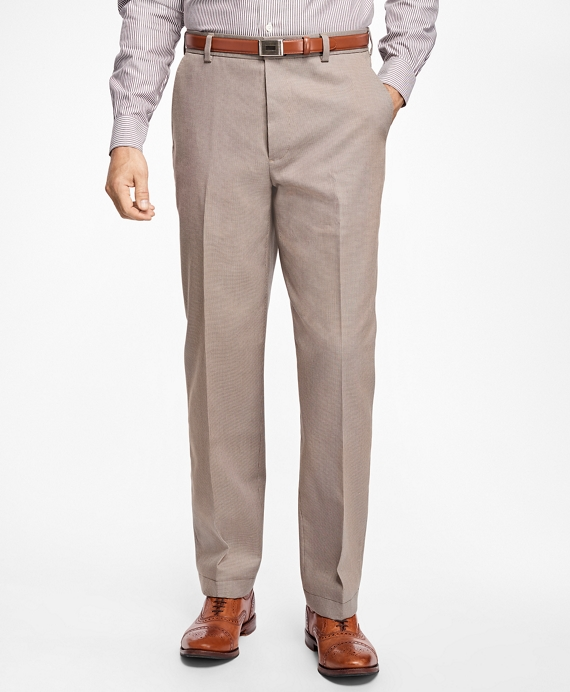 Non-Iron Clark Fit Houndstooth Chinos