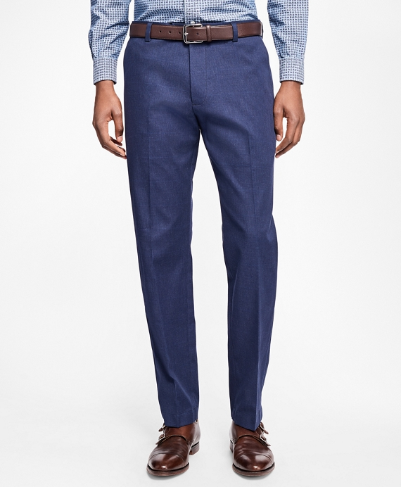 Non-Iron Milano Fit Houndstooth Chinos