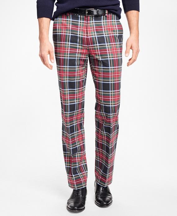1960s Style Men's Clothing Clark Fit Stewart Tartan Chinos $128.00 AT vintagedancer.com