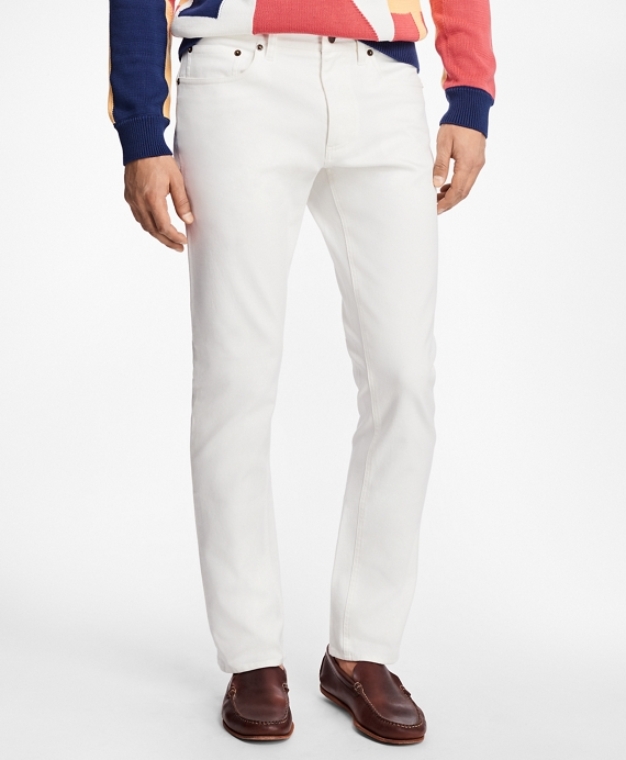 Five-Pocket Selvedge White Twill Pants