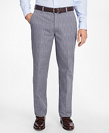 Non-Iron Clark Fit Glen Plaid Chinos
