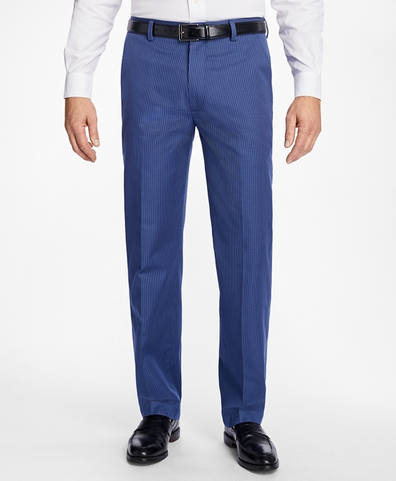 Clark Fit Micro-Check Advantage Chinos® Navy