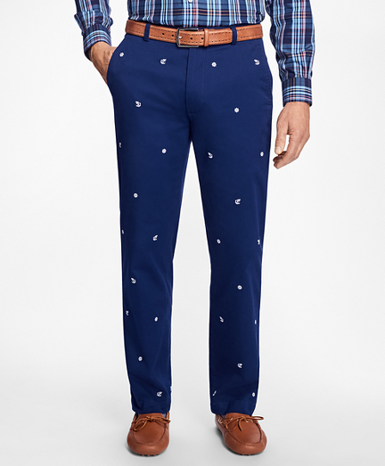 Clark Fit Nautical Embroidered Pants