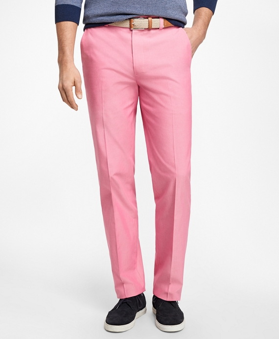 Non-Iron Clark Fit Supima® Cotton Oxford Chinos Pink