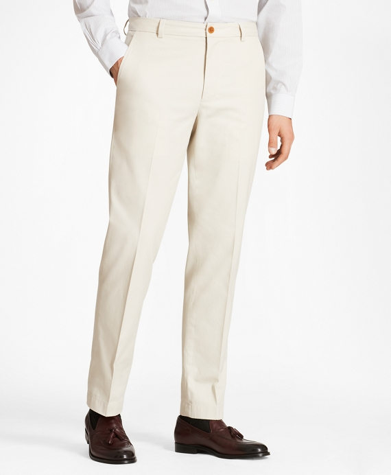 Milano Fit Piece-Dyed Supima® Cotton Stretch Chinos Oatmeal