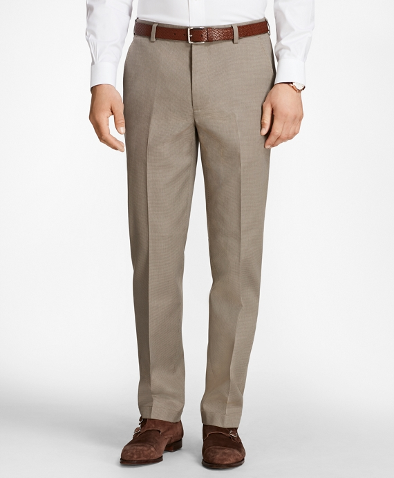 Clark Fit Houndstooth Advantage Chinos® Tan