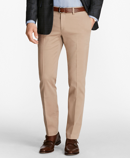 Slim Fit Twill Stretch Pants