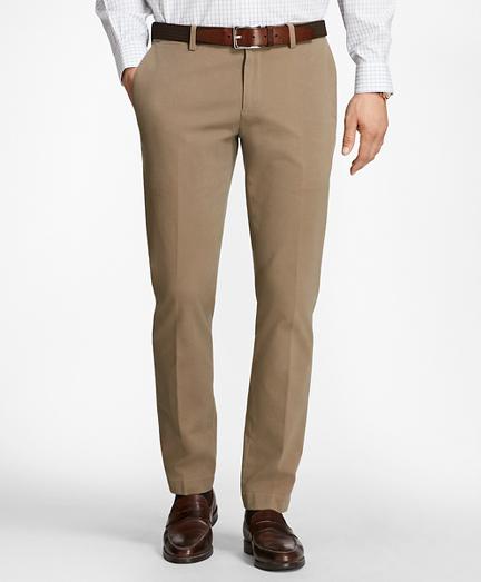 Slim Fit Twill Stretch Pants