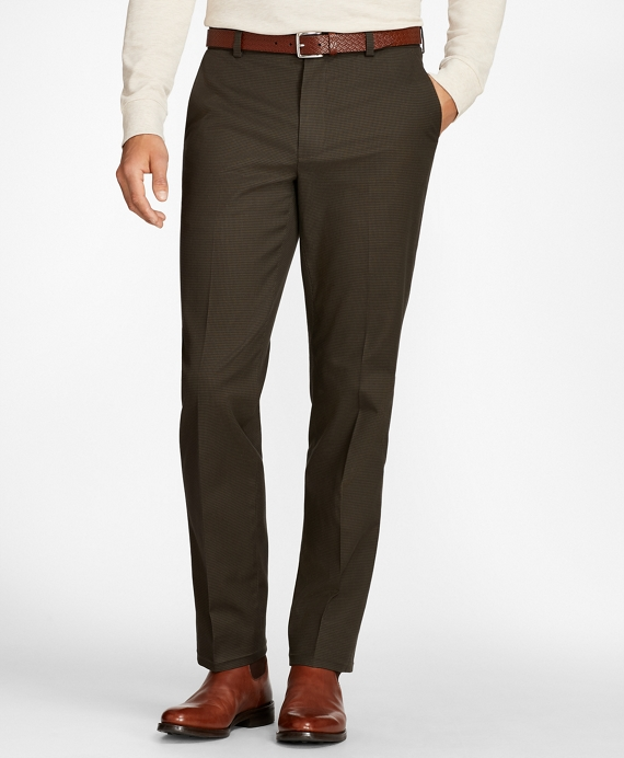 Clark Fit Three-Color Houndstooth Advantage Chinos® Olive