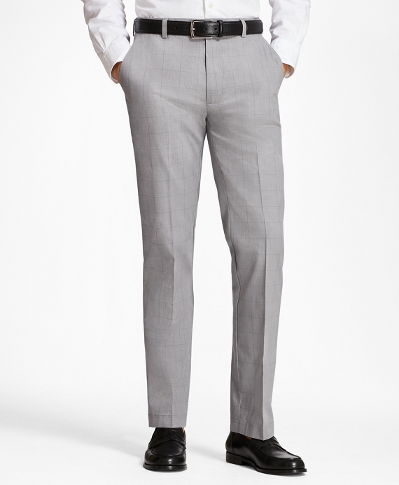 Clark Fit Glen Plaid Stretch Advantage Chinos® Grey