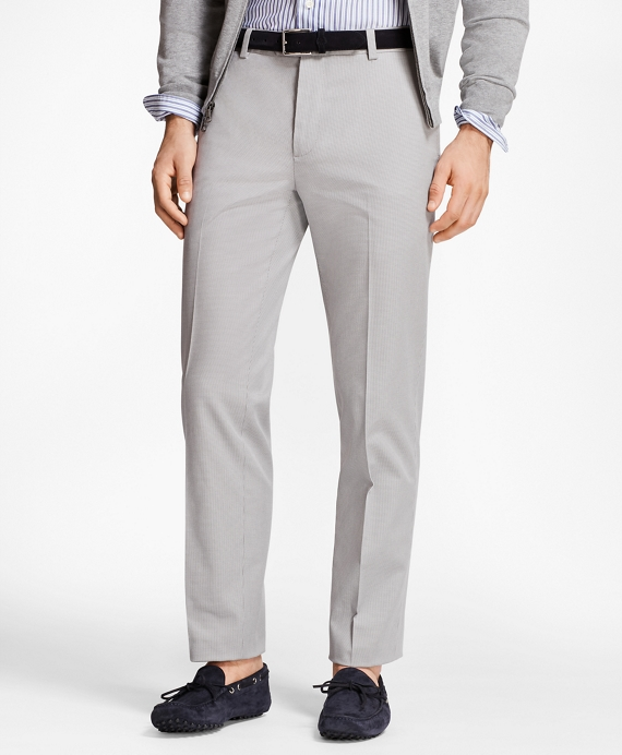 Milano Fit Houndstooth Stretch Advantage Chinos® Grey