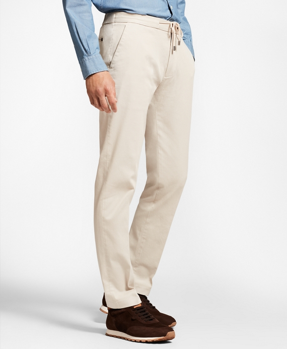 Garment-Dyed Drawstring Pants Oatmeal