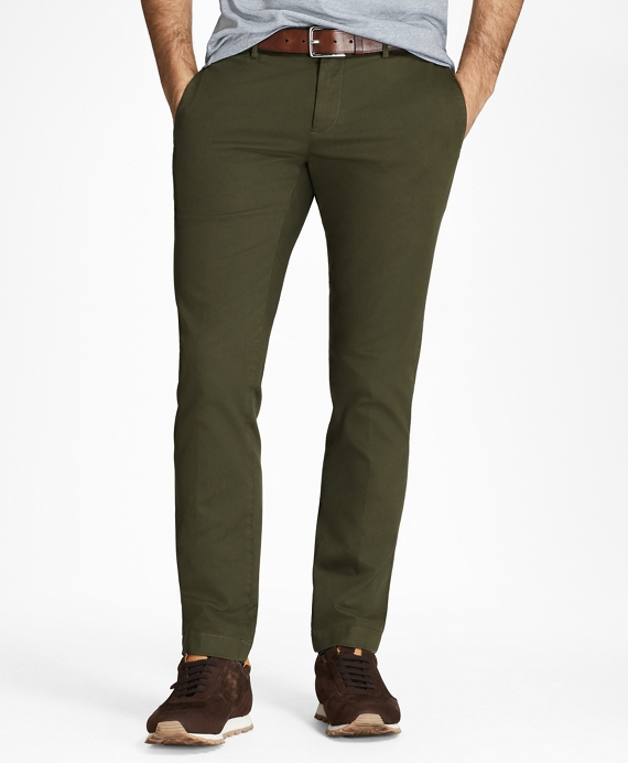 Garment-Dyed Chinos Dark Green