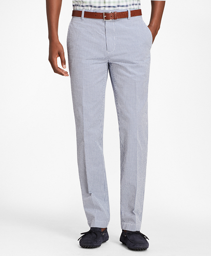 Milano Fit Gingham Seersucker Pants