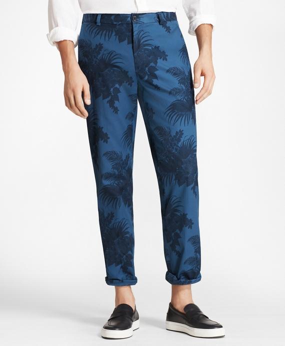 Clark Fit Tropical Print Pants Blue