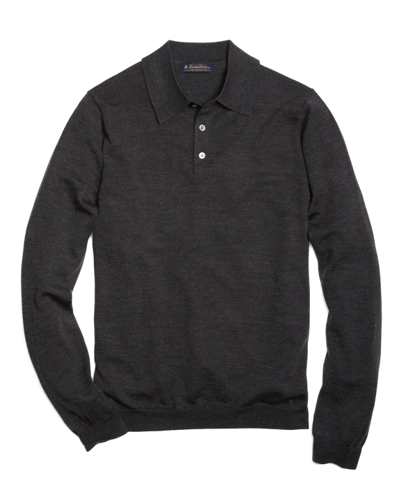 Merino Polo Charcoal Heather