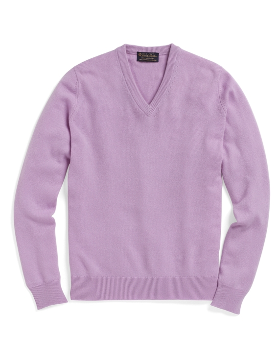 Cashmere V-Neck Sweater Lavender
