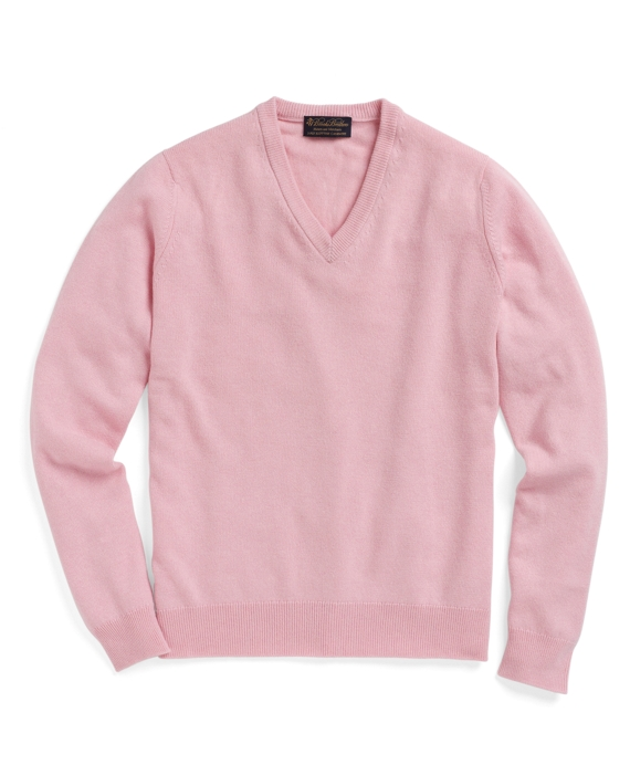 Cashmere V-Neck Sweater Light Pink