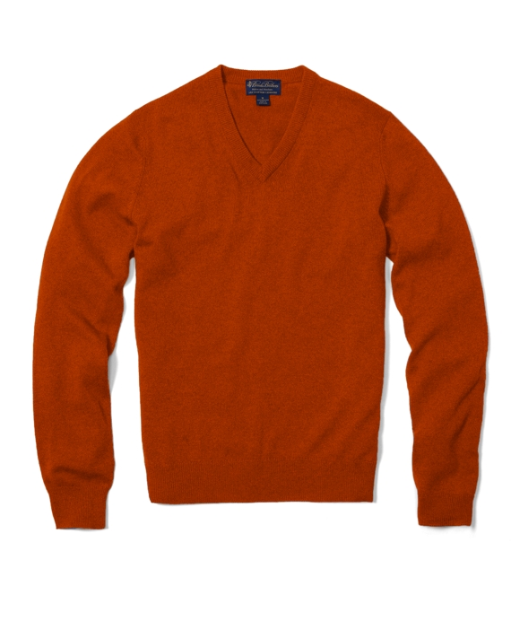 Cashmere V-Neck Sweater Mandarin