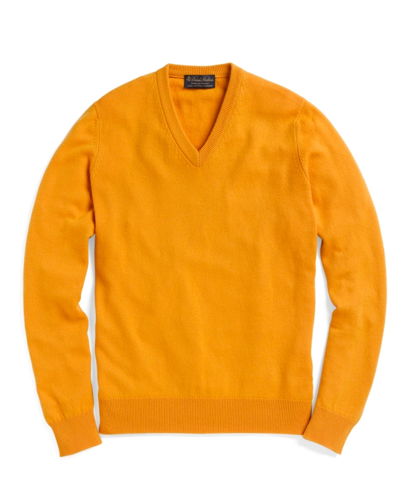 Cashmere V-Neck Sweater Mustard