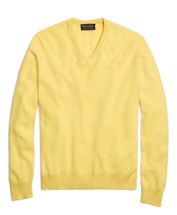 Cashmere V-Neck Sweater Sunlight