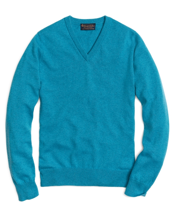 Cashmere V-Neck Sweater Turquoise