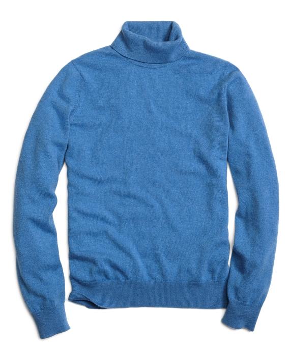 Cashmere Turtleneck Sweater Blue