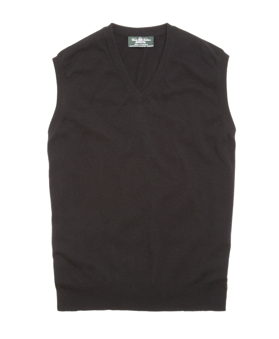 Country Club Lightweight Cashmere Vest Black