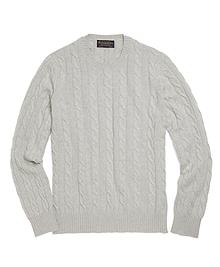 Cashmere Crewneck Cable Sweater