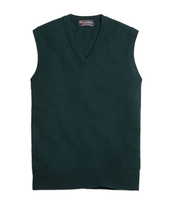 Cashmere Sweater Vest Dark Green