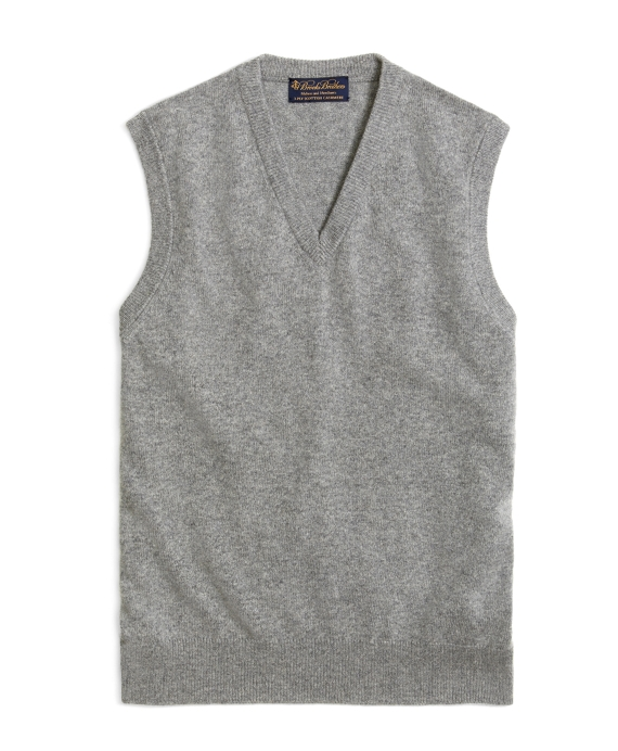 Cashmere Sweater Vest Heather Grey