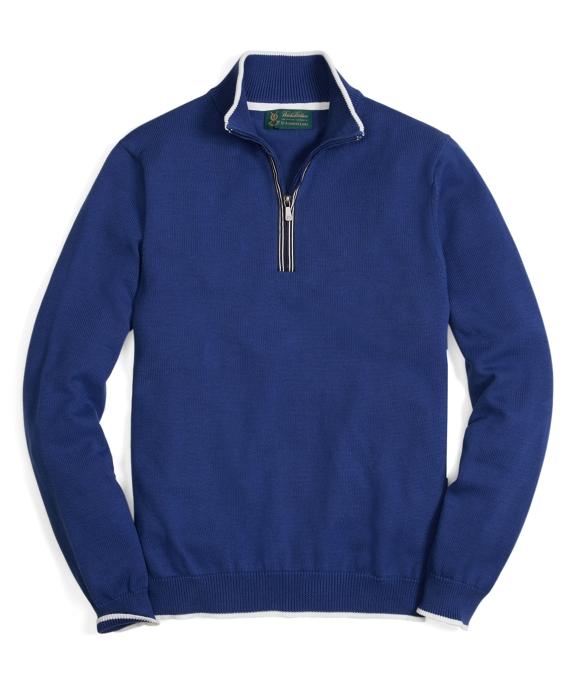 St Andrews Links Supima® Half-Zip Sweater Navy