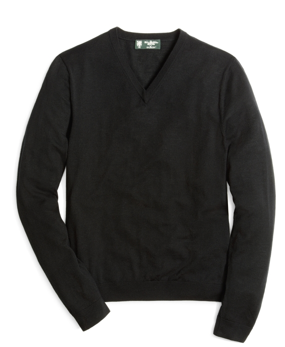 Country Club Lightweight Saxxon Wool Sweater Black