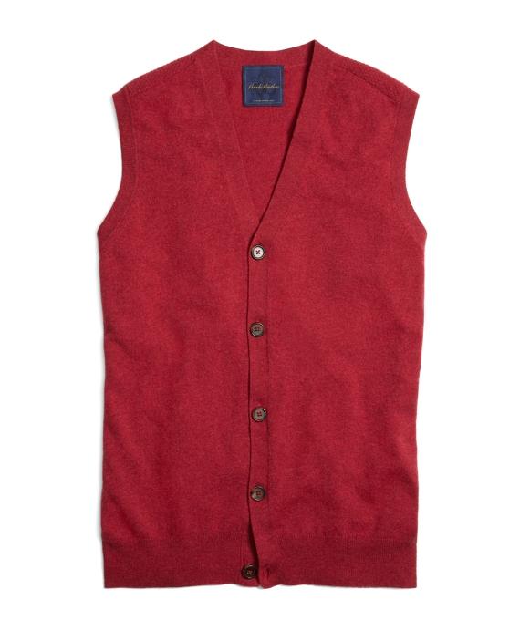 Pink Cashmere Button-Front Vest Pink