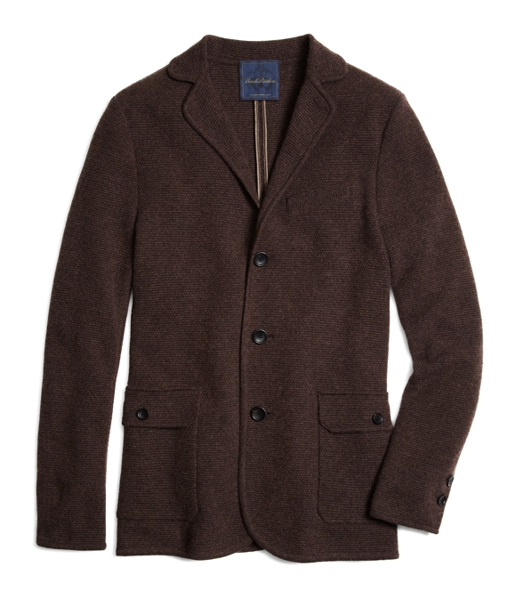 Cashmere Sweater Jacket Brown