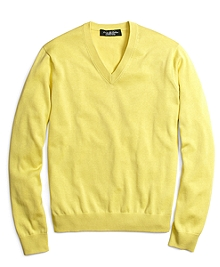 Country Club Lightweight Saxxon® Wool V-Neck Sweater