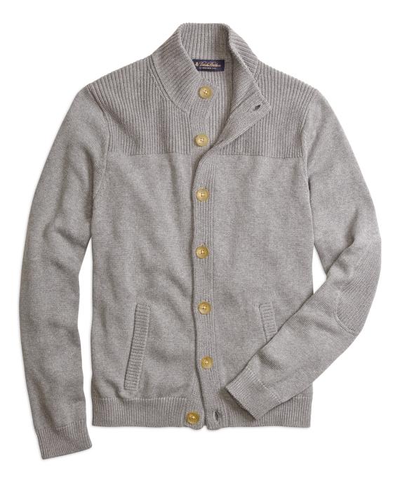 Mockneck Cardigan Grey
