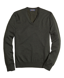 Saxxon® Wool V-Neck Sweater