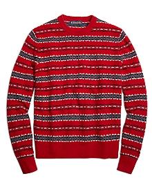 Merino Wool Fair Isle Crewneck Sweater