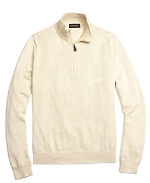Supima® Cotton Half-Zip Sweater