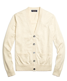 Supima® Cotton Button-Front Cardigan