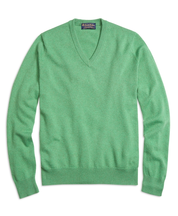 Cashmere V-Neck Sweater Green