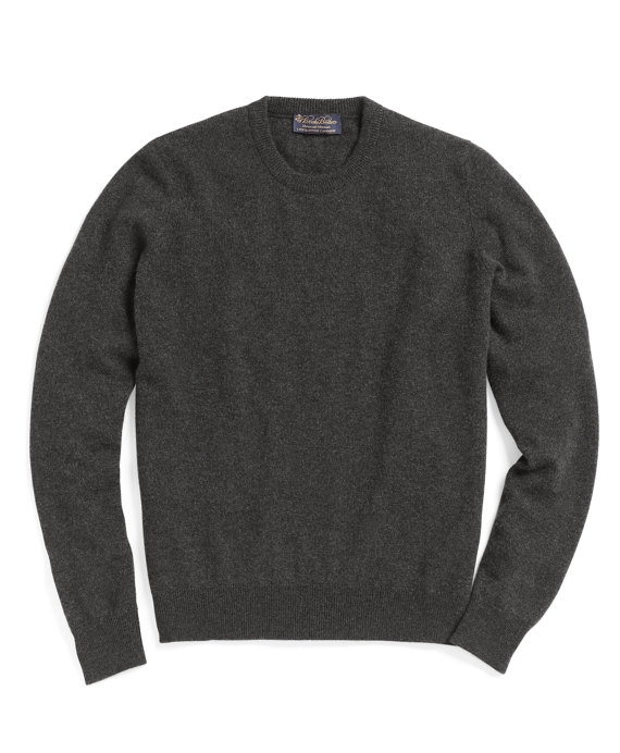 Cashmere Crewneck Sweater-Basic Colors Dark Grey