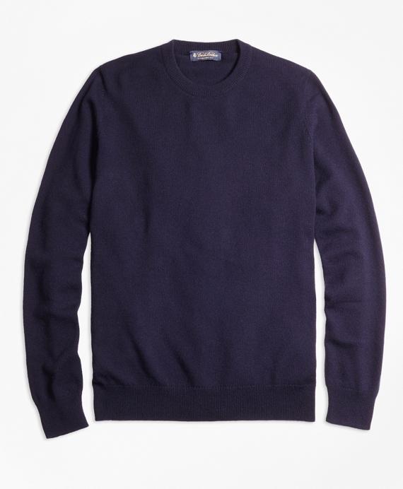 Cashmere Crewneck Sweater-Basic Colors Navy