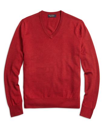 Saxxon Wool V-Neck Sweater